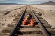 voie ferrée traversant le sud Lipez, de Uyuni vers le Chili