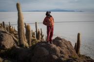Ile aux Cactus dans le Salar d'Uyuni