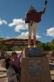Leader indigène dans le village de Quila Quila