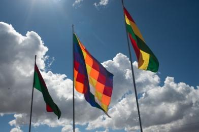 le drapeau des peuples indigènes andins