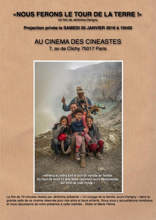 AFFICHE FB NOUS FERONS LE TOUR DE LA TERRE cineastes
